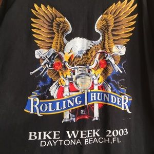 2003 Rolling Thunder Biker Tee Bike Week